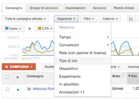 Segmentazione Adwords