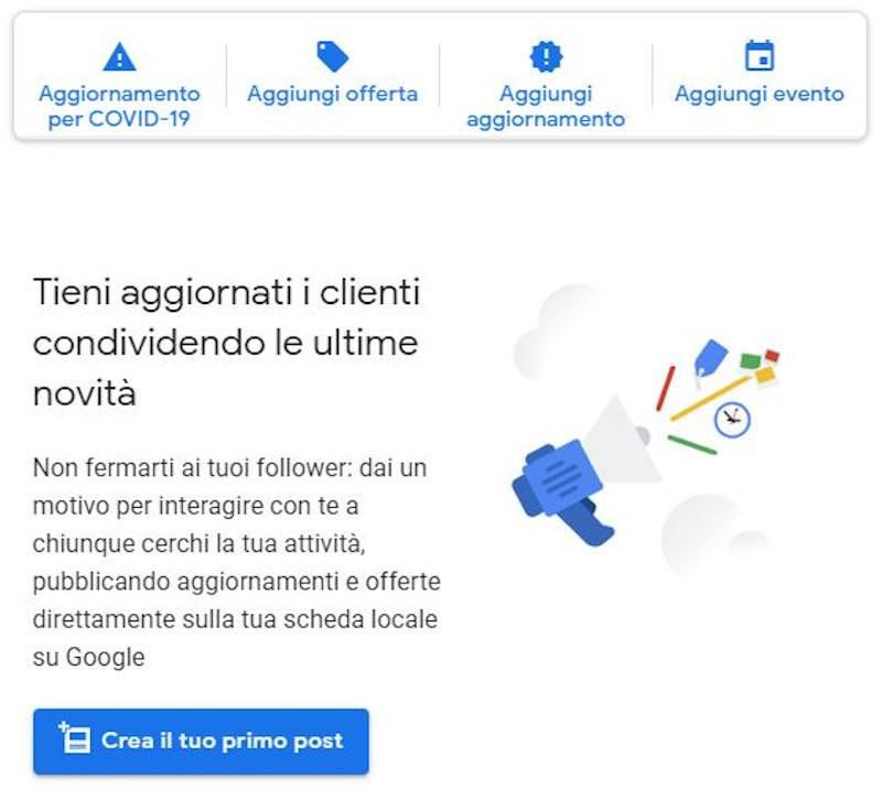 google my business post coronavirus novita